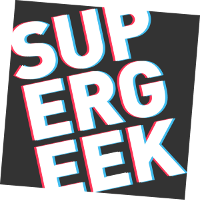 Supergeek logo dark